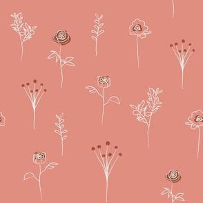 Botanical - WILDFLOWER - pink