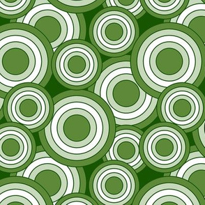 concentric circles lime green and white