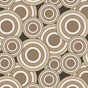 concentric circles beige, tan, brown