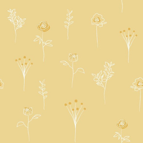 Botanical - WILDFLOWER - green