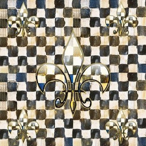CheckerdFleur-de-lisGlass