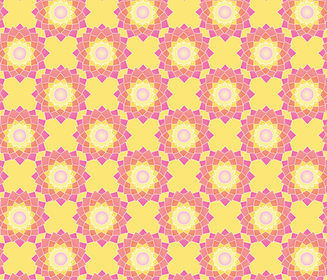 Cactus Flower Geo brights fabric by colour_angel_by_kv on Spoonflower - custom fabric