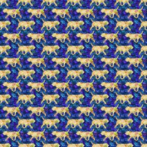Cosmic trotting Otterhound - night