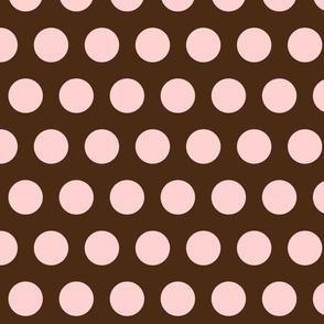 polka dot - brown/soft pink
