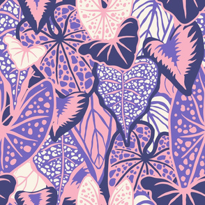 Tropical Foliage (large) - Purple