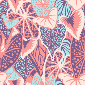 Tropical Foliage (large) - Pastel Palette