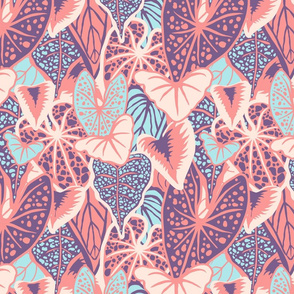 Tropical Foliage (medium) -Pastel Palette