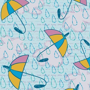 Rain Rain - Blue