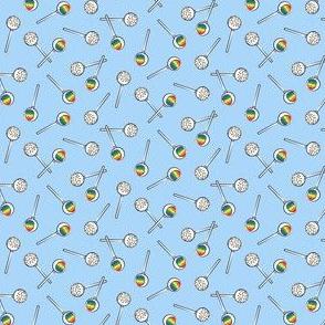(micro scale) Rainbow Cake Pops - blue C19BS