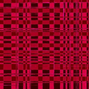 Digital Rattan Texture in Monochromatic Rosy Red