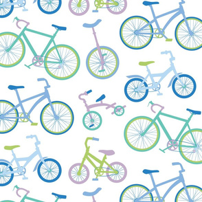 Bicycle Parade Blue