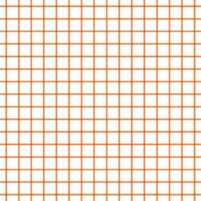 """windowpane 1/2"""" tangerine orange"""