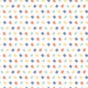 Hand drawn vector tiny confetti sprinkles