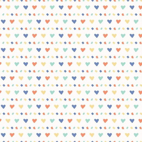 Hand drawn vector tiny heart confetti sprinkles