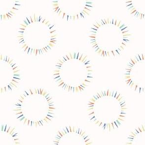 Sun flare confetti polka dot pattern