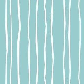 Aqua Stripe - Wide