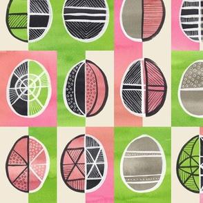 Easter Egg Batik / Pink and Green