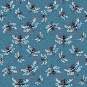 Wedgewood-Grey Dragonfly Dance Small Print