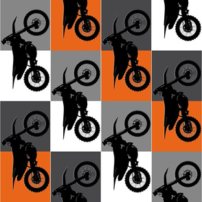 Team Orange Checker Silhouette KTM
