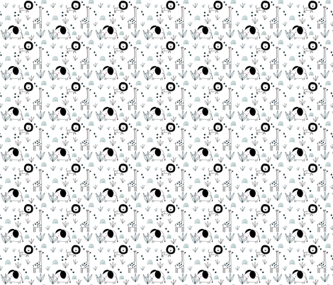 safari jungle on white background (extra small) fabric by paperandpickles on Spoonflower - custom fabric