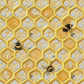 Widdle Bitty Bees- Double Golden Honeycomb