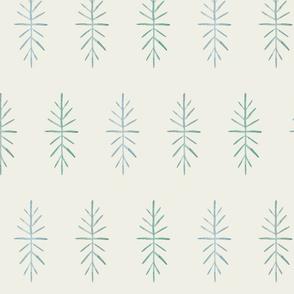 CustomMedium Sputnik Snowflakes soft blue green