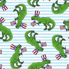 Uncle Sam Trex - Patriotic Flag - Light Blue Stripes LAD19