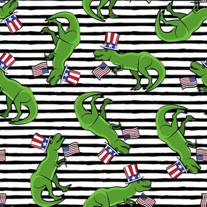Uncle Sam Trex - Patriotic Flag - Black Stripes LAD19