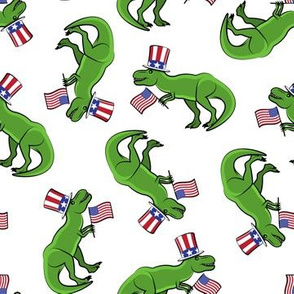 Uncle Sam Trex - Patriotic Flag - White  LAD19