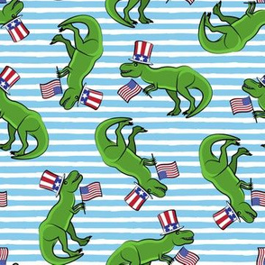 Uncle Sam Trex - Patriotic Flag - Blue Stripes LAD19