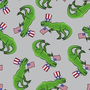 Uncle Sam Trex - Patriotic Flag - Grey LAD19