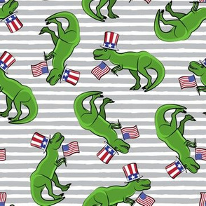 Uncle Sam Trex - Patriotic Flag - Grey Stripes LAD19