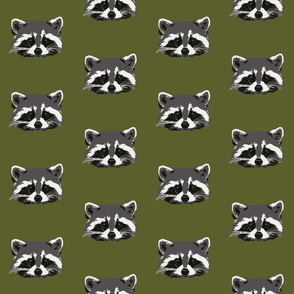 Randall the raccoon in green - small