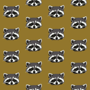 Randall the raccoon in ochre - sm