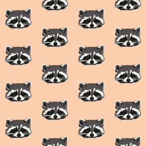 Randall the raccoon in peach - small