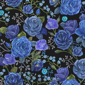 Moody Blue Floral