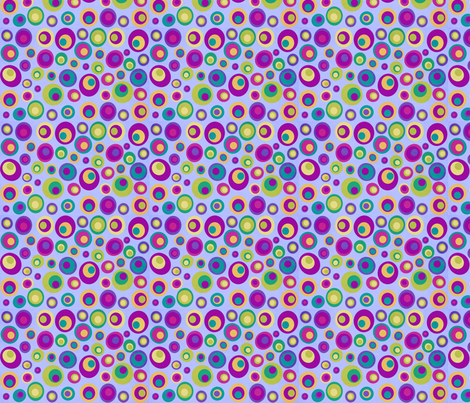 Goggle eyes (eyes on the 60s) - purple on blue fabric by dustydiscoball on Spoonflower - custom fabric