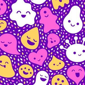Floating Friends Pink Purple