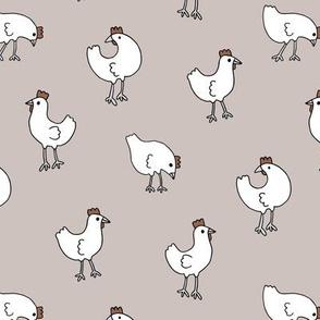 Little chicken spring garden easter birds chicks illustration pattern gender neutral beige