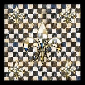 CheckeredFleur-de-lisnapkin2