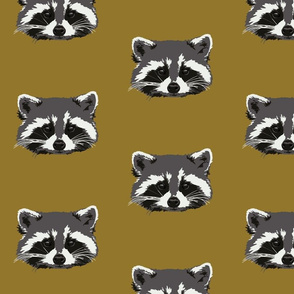 Randall the raccoon in ochre
