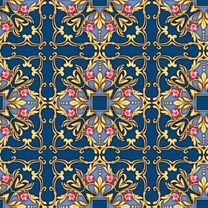 Blue jewerly pattern