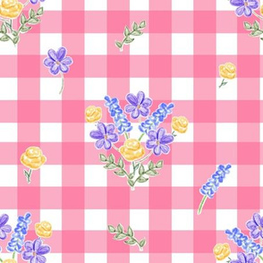 Spring Picnic Bouquets - Strawberry Gingham