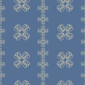 loopy flowers - blue