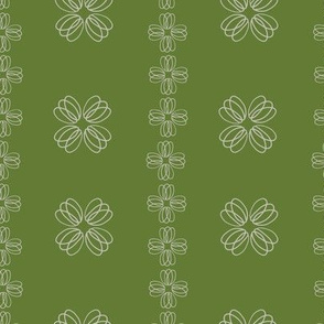 Loopy flowers - green