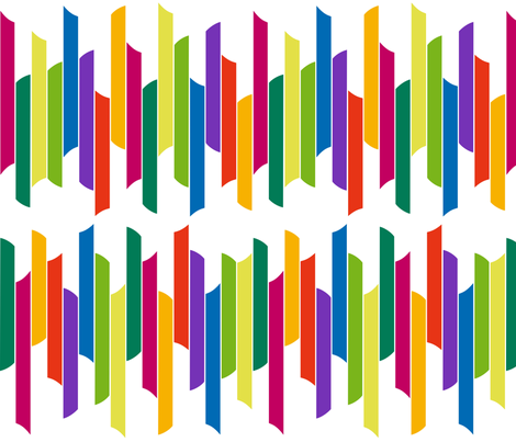 Vertical stacked stripes - brights on white  fabric by dustydiscoball on Spoonflower - custom fabric