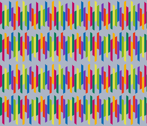 Vertical stacked stripes - brights on grey fabric by dustydiscoball on Spoonflower - custom fabric