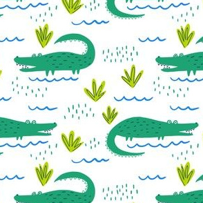 Gators on White