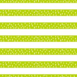 Lime Green Grass Stripes