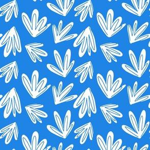 Gator Plants, White on Blue